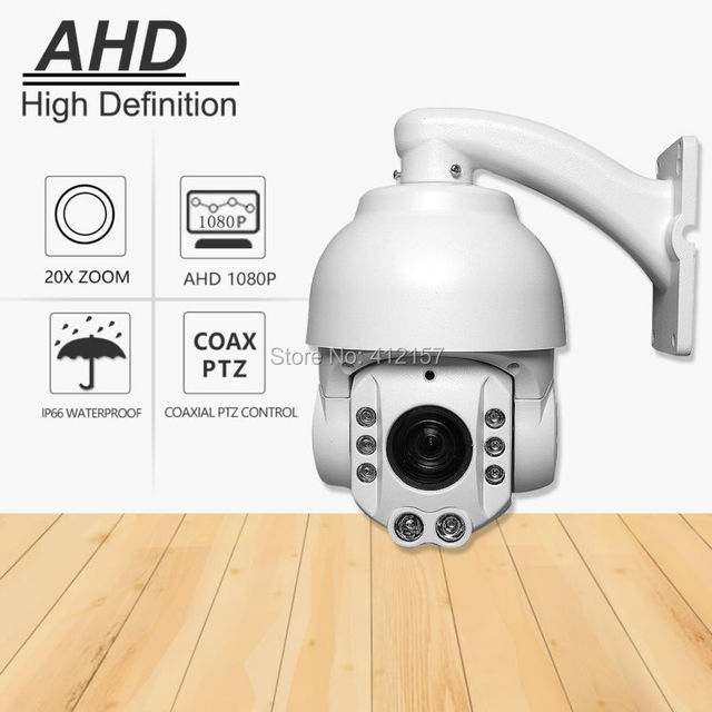 "CCTV Security Outdoor IP66 Speed Dome 4"" MINI SIZE AHD PTZ Camera Surveillance 1080P 2.0MP 20X ZOOM Auto Focus Pan/Tilt IR-CUT"