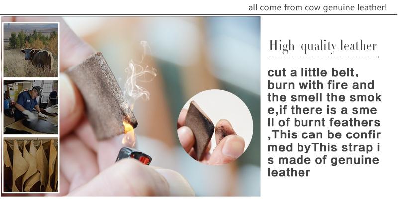 حزام COWATHER جلد طبيعي للرجال 43