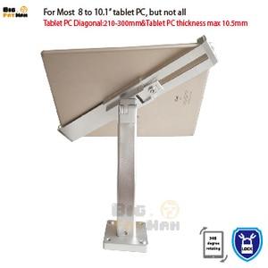Image 4 - Montaggio a Parete Universale Tablet Pc Anti Furto Supporto Dellesposizione di Sicurezza Tablet Del Basamento per 7 10 Pollici Ipad Samsung asus Acer Huawe
