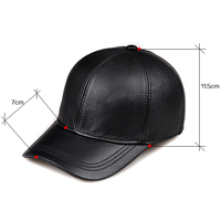 Wholesale Winter 2019 New Fashion Genuine Leather Baseball Caps 9 Panel Keep Warm Cowhide Hats Men Women Bone Casquette