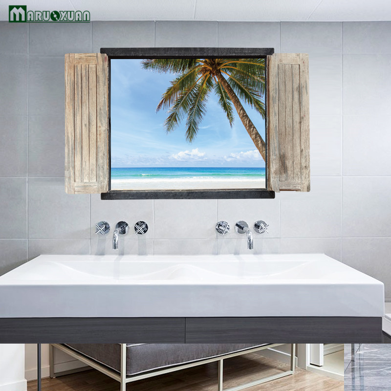 2017 Rushed Maruoxuan New 3d Landscape Fake Window Wall Stickers Chinese  Bedroom Living Room Entrance Decorative Can Be Removed  In Wall Stickers  From Home ...