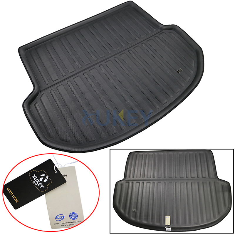 Image 2 - Fit For Hyundai Santa Fe 5 Seater IX45 2013 2018 Floor Mat Rear Trunk Cargo Tray Boot Liner Carpet Protector 2014 2015 2016