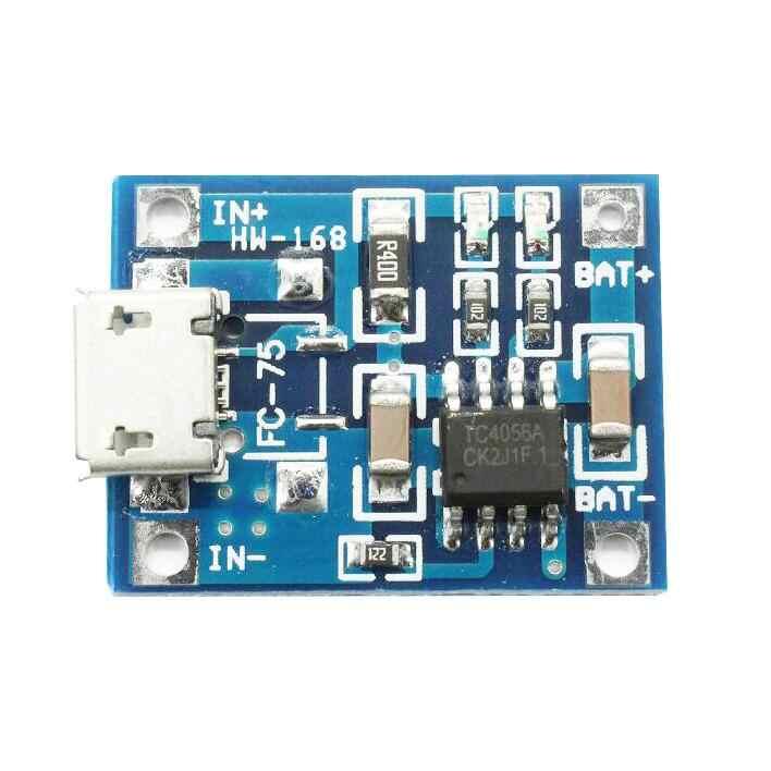 TP4056 5 V TENSTAR ROBOT 1A Micro USB 18650 Pin Lithium Sạc Ban Sạc Mô Đun + Bảo Vệ Kép Chức Năng