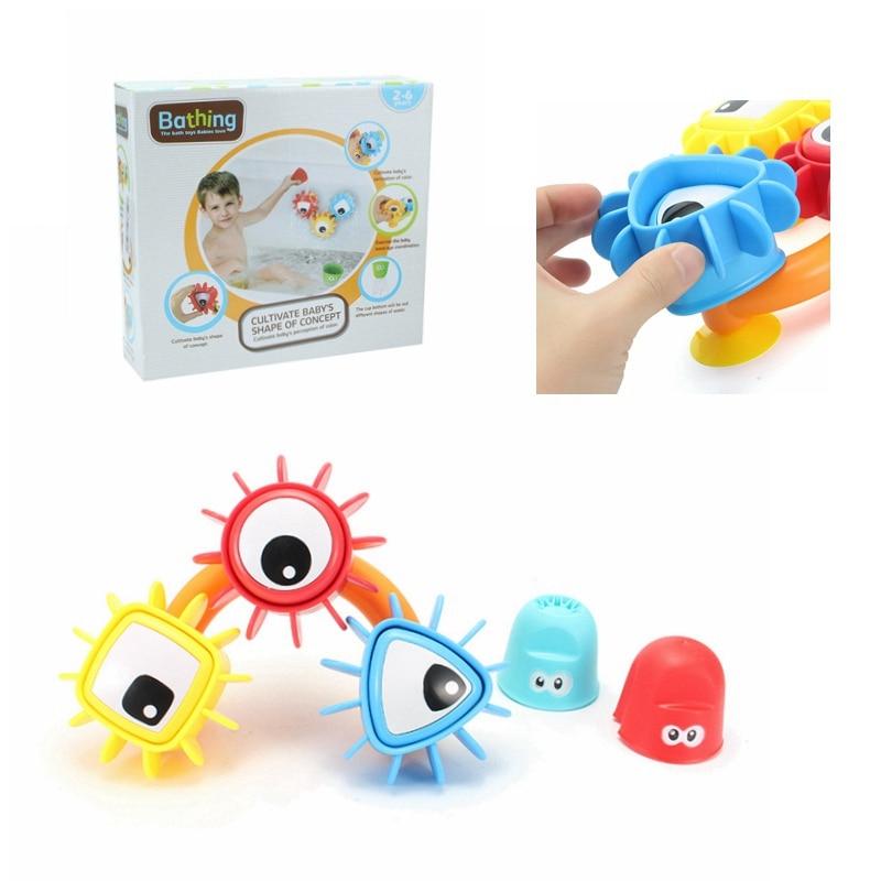 Children Baby Bath Toys Waterwheel Spraying Dabbling Toy Kids Shower Bathroom Water Playing Game Bath Beach Toy Gift For Kids