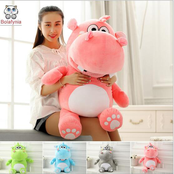 Lovely Hippo plush toy Birthday Valentine's Day gift Christmas gift children stuffed toy the huge lovely hippo toy plush doll cartoon hippo doll gift toy about 160cm pink