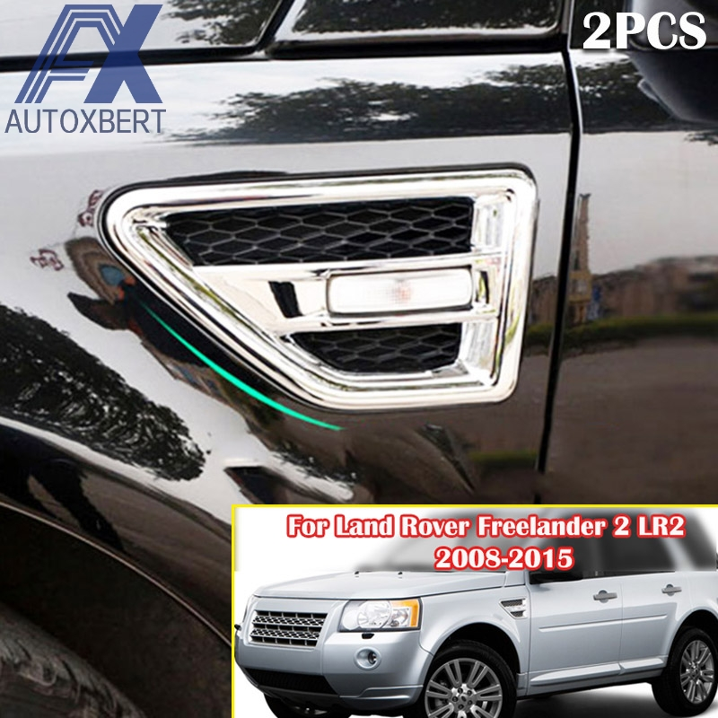 AX Chrome Side Air Vent Cover Trim Front Outside Bezel