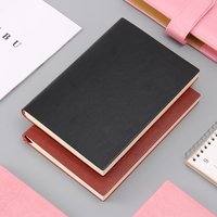Leather Notebook A5 Classic Notepad Business Logo Enterprise Custom Name Imprint Gift Soft Face Book