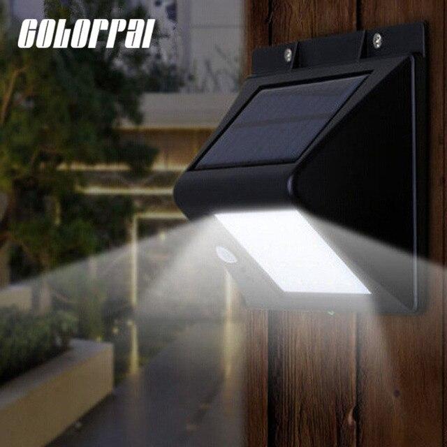 Us 1796 45 Off20 Czujnik Ruchu światła Led Zasilany Energią Słoneczną Na Zewnątrz Solar Led Flood światła Reflektory Taras Ogród ścieżka Lampy