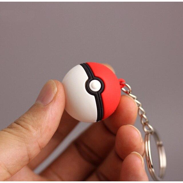 3D Anime Pokemon Go Key Ring Pikachu Keychain Pocket Monsters Key Holder 5