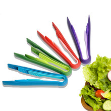 3Pcs/Set Plastic Food Tong 3 In 1 Barbecue BBQ Tongs Anti-slip Salad Buffet Clamp Cake Bread Serving Clamps Kitchen Utensils