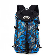 2017 New Trendy Barrel-shaped Canvas Backpack Geometric Pattern Fashion Large Capacity Dual Bag Women Men Designer Travel