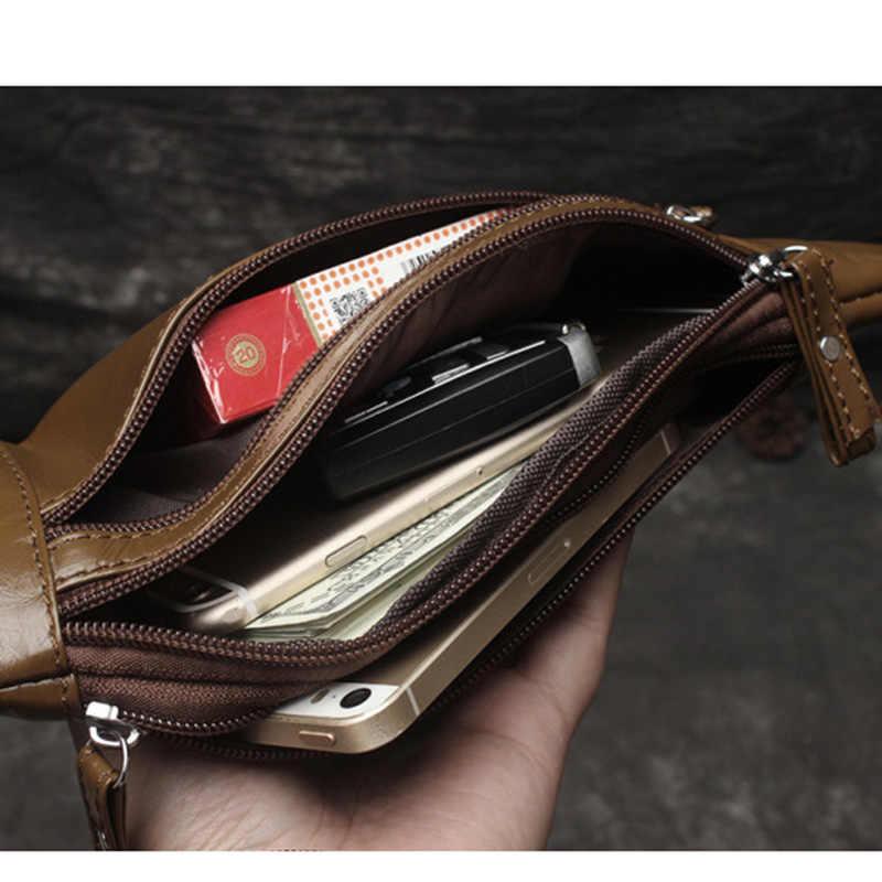 Hakiki Deri erkek Bel Paketleri erkek fanny paketi bel çantası Telefonu kılıflı çanta Seyahat Bel Paketi Erkek Küçük Bel Çantası Deri Çanta