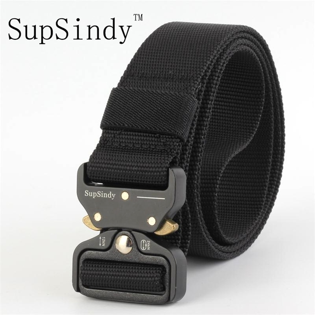 SupSindy men s canvas belt Metal insert buckle military nylon Training belt  Army tactical belts for Men Best quality male strap 450941b698d