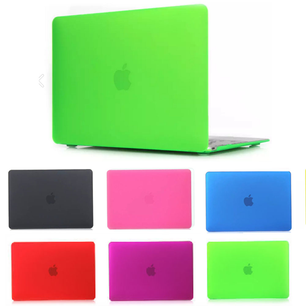 protective shell for laptop macbook pro retina air 11 13 15 notebook matte 7 deep colors protector case for mac book+two gift