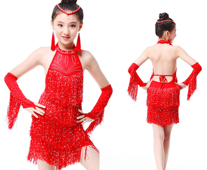 a098e3a5b678 Cheapest Girls Latin Dance Dress Sexy Mesh Latin Dresses Fringed Cha Cha  Rumba Salsa Dance Costume Vestido Baile Latino Girls 89 For Sale at  AliExpress