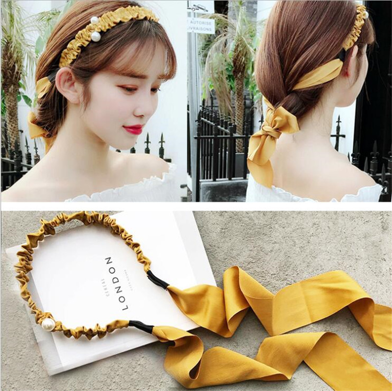 Korean Fashion Fabric Knot Hairband Women Girls Hair Head Hoop Bands Scrunchy Accessories For Women Headband Hairband   Headwear