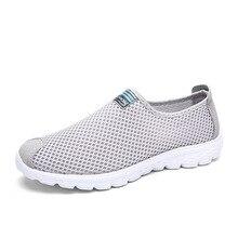 2017 PLUS size35-45 Unisex Del Verano de Malla Transpirable Hombres Zapatos de Los Hombres Ligeros Zapatos Planos Ocasionales de la Manera Del Diseñador Zapatos de Playa Masculinas