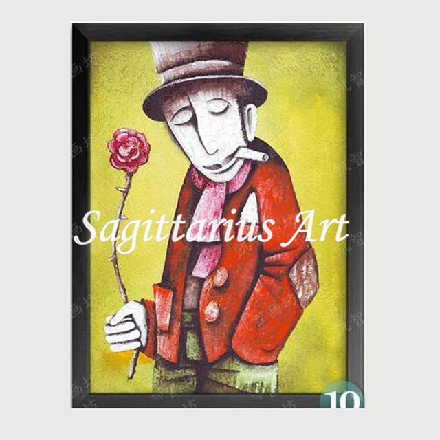 Online Shop Hand Painted Abstract Europea Style Figure Man Woman ...
