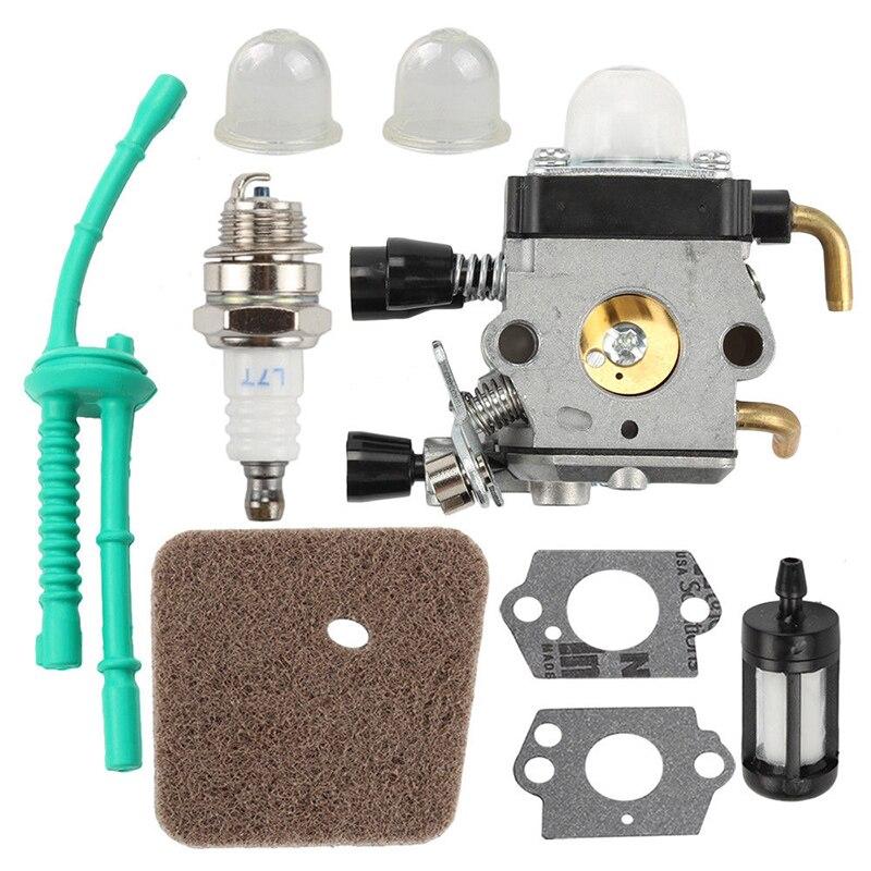 где купить 1set Carburetor Kit for FS38 FS45 FS46 FS55 KM55 FS85 Air Fuel Filter Gasket Carb Power Tool Accessory по лучшей цене