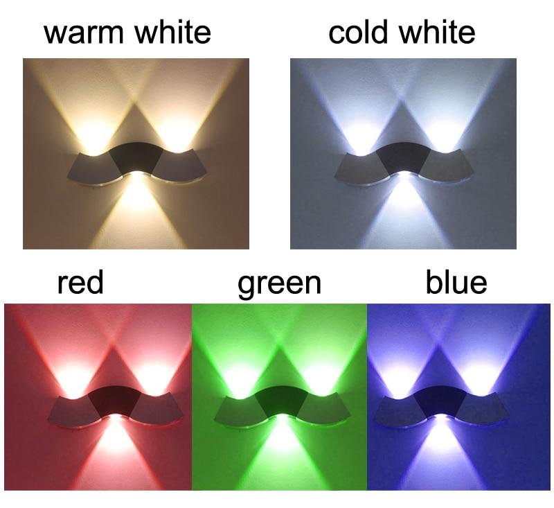 Modern 3W Wall Light Up & Down LED Sconce Lighting Spotlight Toilet ...