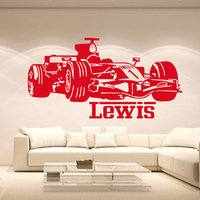Boy Racing Car Vinyl Wall Sticker Home Decor Personalized Baby Names Wall Stickers For Boys Roomss