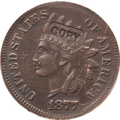 1877 Indian head cents coin copy