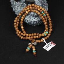 Wooden Bangle Jewelry Cindiry Brand Wenge Prayer Beads Tibetan Buddhist Mala Buddha Bracelet Rosary 108 *8mm/108*6mm