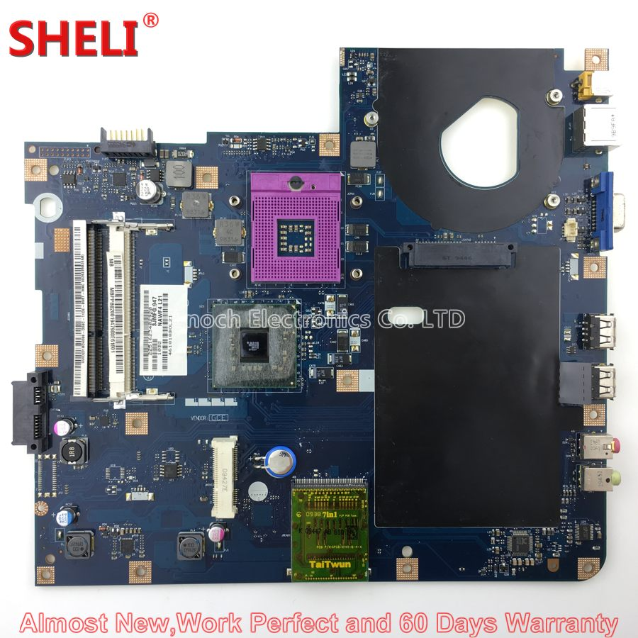 SHELI MBPPB02001 MB.PPB02.001 Laptop Motherboard For Acer Aspire 5332 5732 5732Z 5732ZG NAWF3 LA-4854P Main Board System Board mbn7602001 la 4854p laptop motherboard for acer emachines 5732 e525 intel gl40 ddr3 mb n7602 001