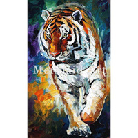 hand painted Palette knife thick Art Bengal Tiger Modern Artwork of Landscape canvens Oil Painting Wall Decoration Fine Art