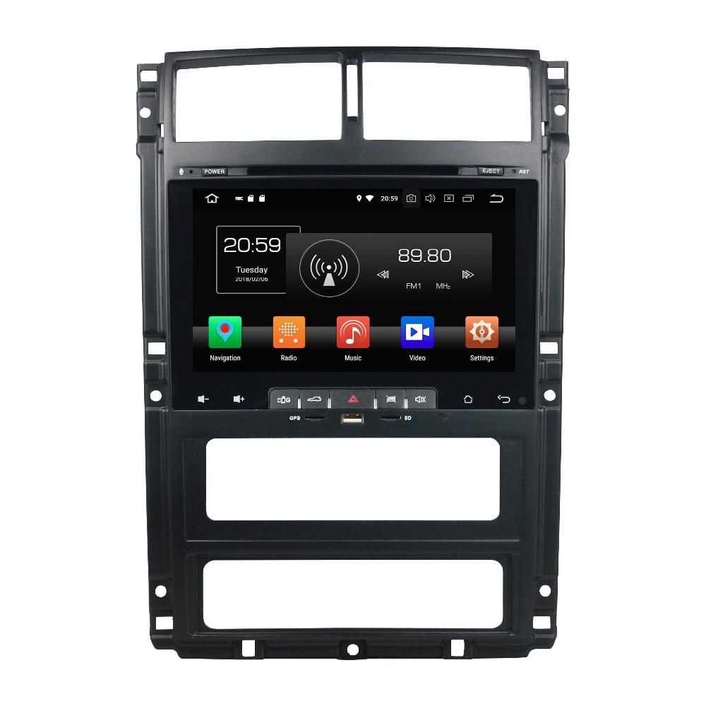 Sale OTOJETA Android 8.0 car DVD octa Core 4GB RAM 32GB rom IPS screen multimedia player for PEUGEOT 405 head unit gps tape recorder 0