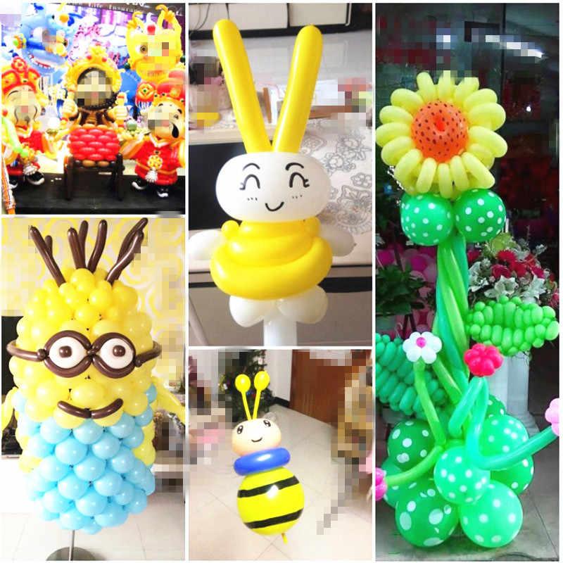 5 pçs tira balão longo balões mágicos rosa ouro magia tira balão festa favores inflável bolas de ar casamento vermelho látex balão