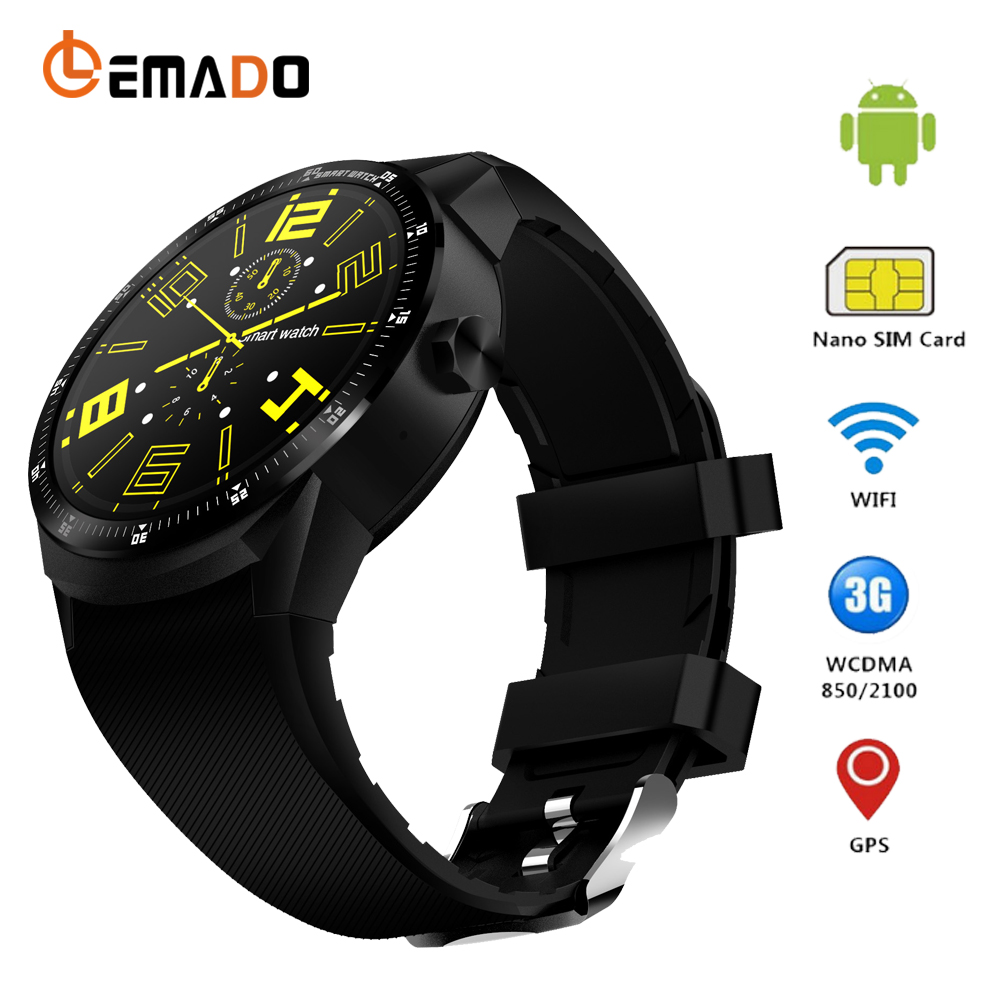 Lemado K98H Android 4.4 Smart Watch 512MB + 4GB Bluetooth WIFI 3G Smartwatch Phone Wristwatch Support Heart Rate Step Counter цена и фото