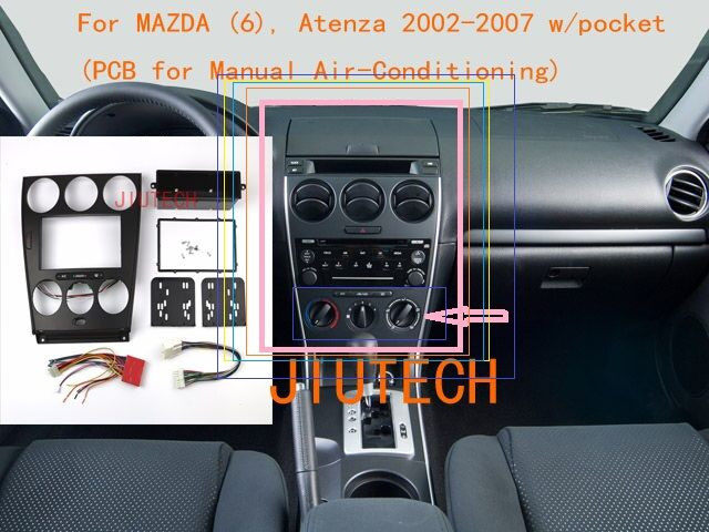 online shop double din car radio fascia frame panel for mazda 6 rh m aliexpress com mazda 6 2007 radio manual manual radio mazda 6 2008