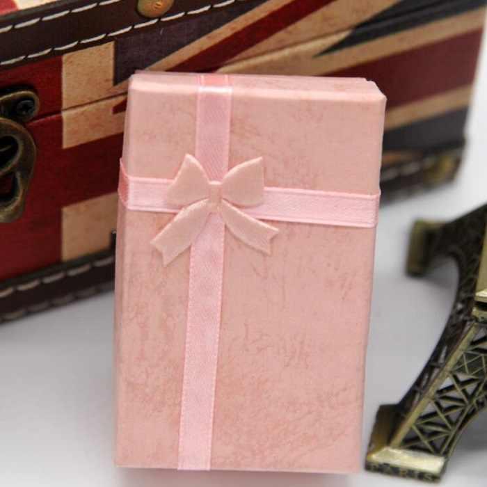 Шкатулка ожерелья Серьги Браслеты упаковочная коробка для подарка Оптовая продажа дисплей Классический бант wh