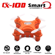 RC Helicopter Mini Drone CX-10D Quadcopter Mirco 2016 New Coming Orange Drone Kit 2.4GHz 4CH 6-Axis