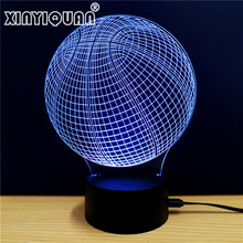 Christmas Gifts USB 3D Night Light Basketball Club LED Touch Lamp Soccer  NightLight 3D Visual Light Luminaria Veilleuse
