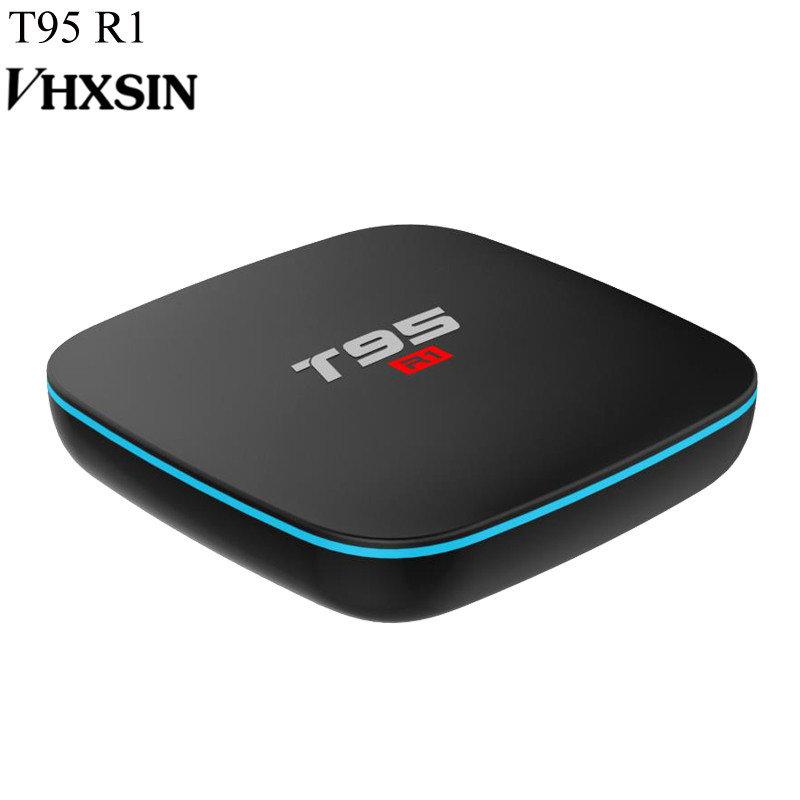 VHXSIN 50 PCS/LOT  T95 R1 Smart TV Box Android 7.1 S905W Quad-core 2.4GHz WiFi 2G RAM 16GB ROM KDplayer