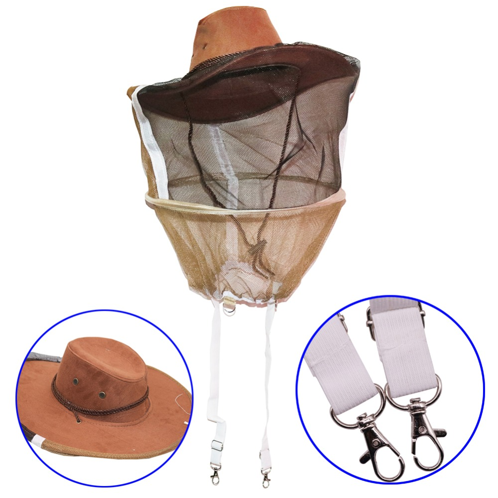 5 chapeaux d'apiculteurs ont besoin de fournitures anti abeilles chapeau de Cowboy apicole Style Cowboy occidental bon voile avec bande élastique outil d'abeille-in Outils d'apiculture from Maison & Animalerie    1