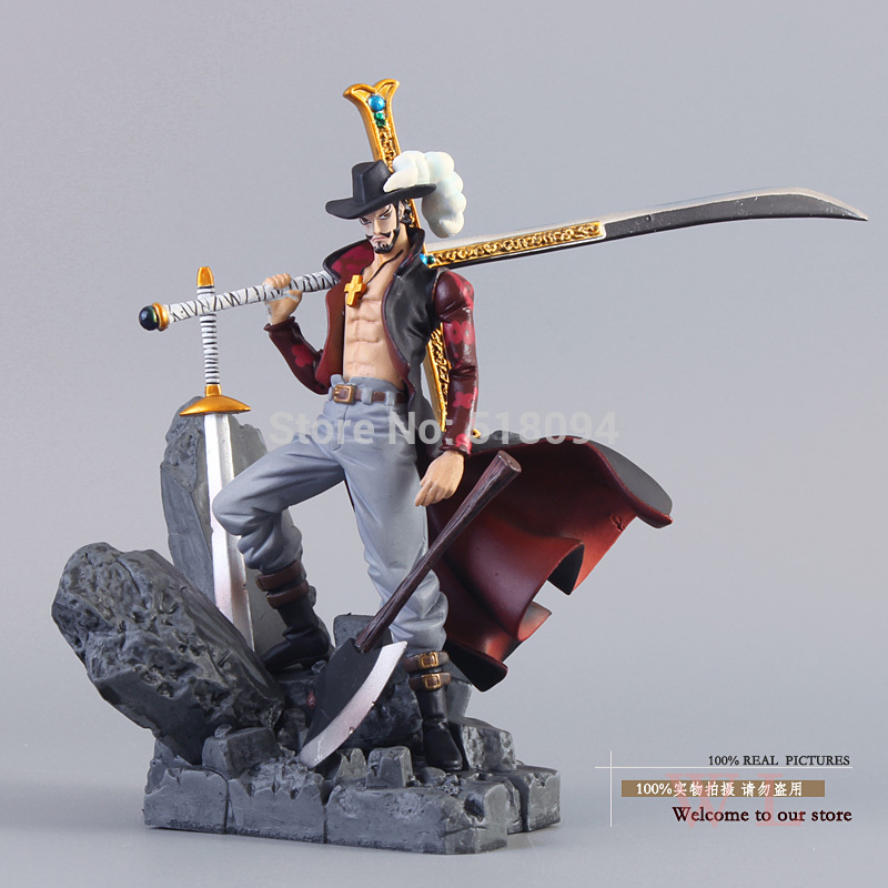 Free Shipping Anime One Piece Dracule Mihawk PVC Action Figure Collection Toy 6