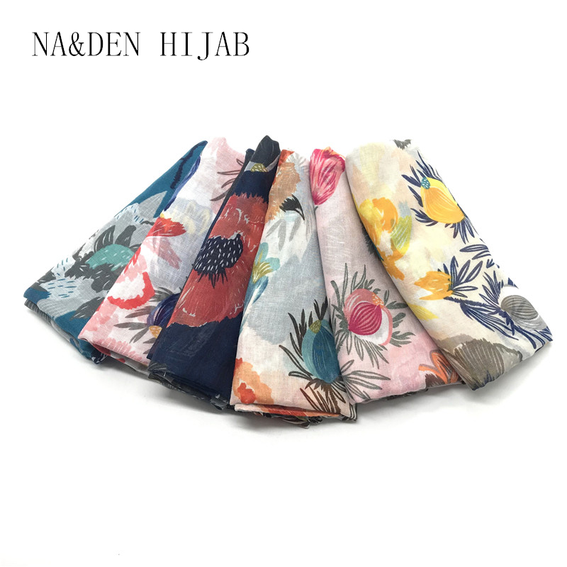 Hot sale fashion flower print high quality scarf/scarves shawls foulard bandana Muslim hijab women scarf 10pcs/lot fast shipping