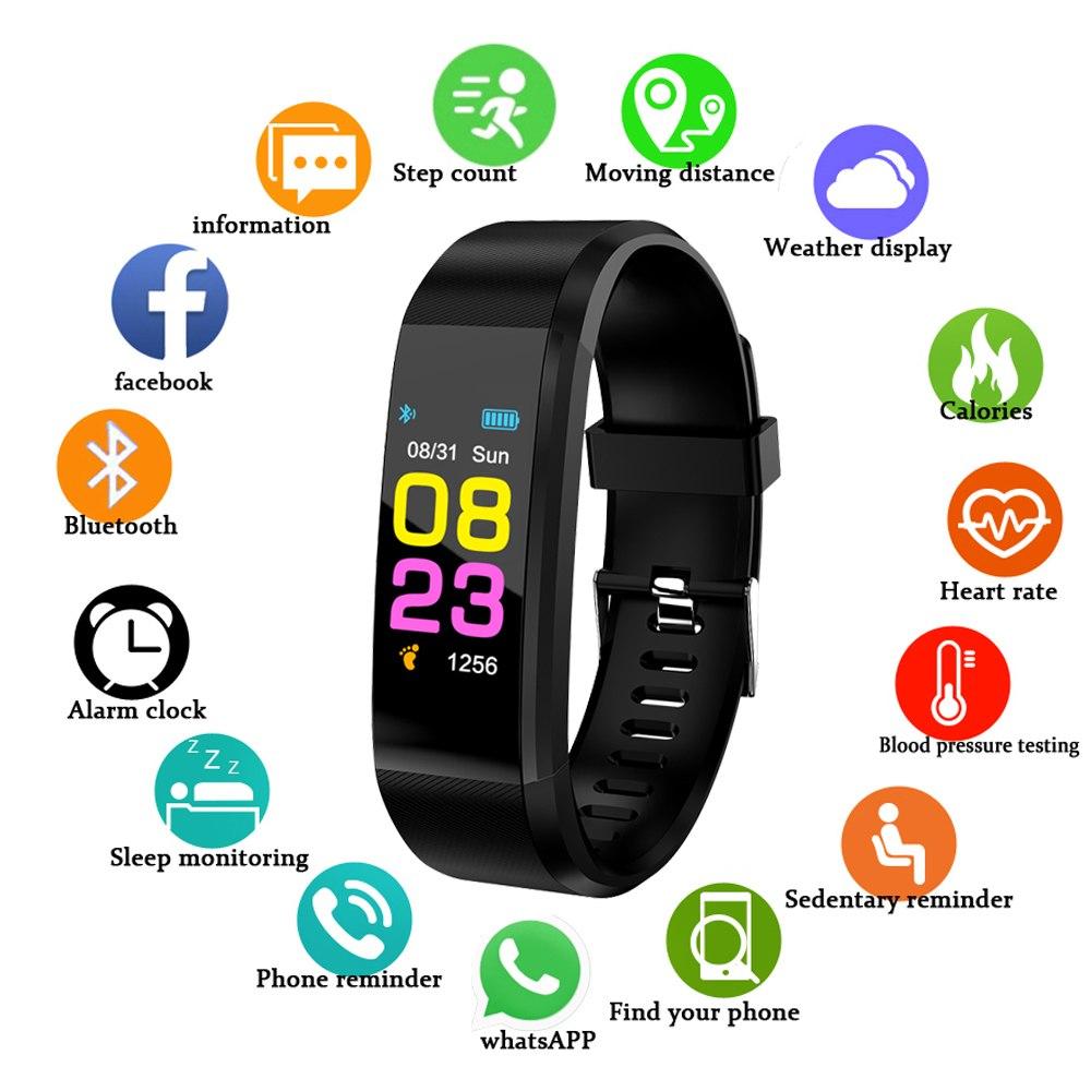 Digital Watches Gejian New Smart Watch Men Women Ip67 Sports Heart Rate Monitor Bluetooth Smart Bracelet Fitness Tracker Information Display Be Novel In Design Watches