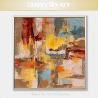 Top Artist Hand painted High Quality Abstract Oil Painting on Canvas Fresh Design Fine Art Thick Oil Paint Abstract Oil Painting