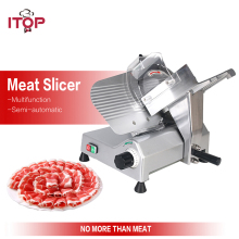 ITOP 10'' Semi-automatic Frozen Meat Slicer Commercial Home Electric Mutton Rolls Meat Grinder Cutting Machine 110V 220V