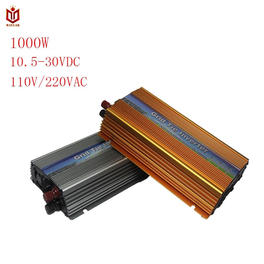 MAYLAR@ 10.5-30VDC 1000W Solar Grid Tie Inverter with MPPT PV on Grid Inverter, Output 90-260V.50hz/60hz maylar 10 5 30 22 50v 1000w solar grid tie inverter with mppt pv on grid inverter output90 110 180 260v for alternative energy