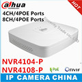 Dahua NVR4104-P  NVR4108-P 4 Ch 8 Ch Smart Mini 1U   4 PoE Ports HDMI Network Video Recorder 1 VGA/1 HDMI HD NVR