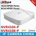 Inteligente Mini 1U Dahua NVR4104-P NVR4108-P 4 Ch 8 Ch 4 Portas PoE HDMI Gravador de Vídeo em Rede 1/VGA 1 HDMI HD NVR