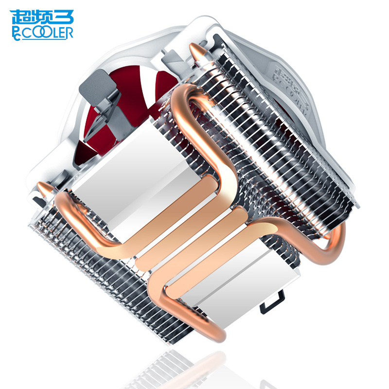 Pccooler 4 Copper Heatpipes CPU cooler for AMD Intel 775 1150 1151 1155 1156 CPU radiator 120mm 4pin cooling CPU fan PC quiet pccooler cpu cooler 4 copper heatpipes 4pin 100mm pwm quiet fan for amd intel 775 115x computer pc cpu cooling radiator fan