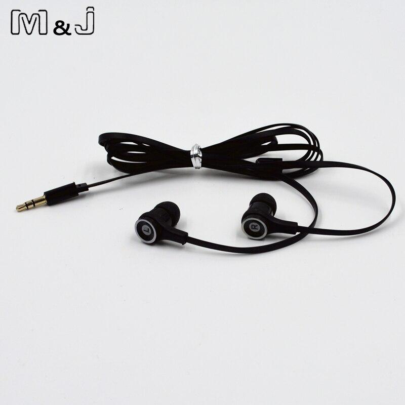 M & J JM21 Оригинальный стерео наушники красочные бренд гарнитура вкладыши Earpod для игровой плеер мобильного телефона PC для Xiaomi iPhone