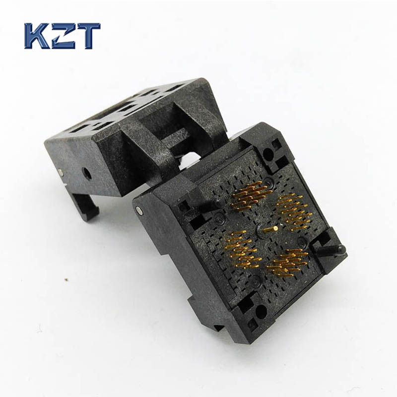 QFN40 MLF40 Burn in Socket IC Test Socket Pitch 0.5mm Clamshell Chip Size 6*6 Flash Adapter Burn in Socket free shipping sop32 wide body test seat ots 32 1 27 16 soic32 burn block programming block adapter