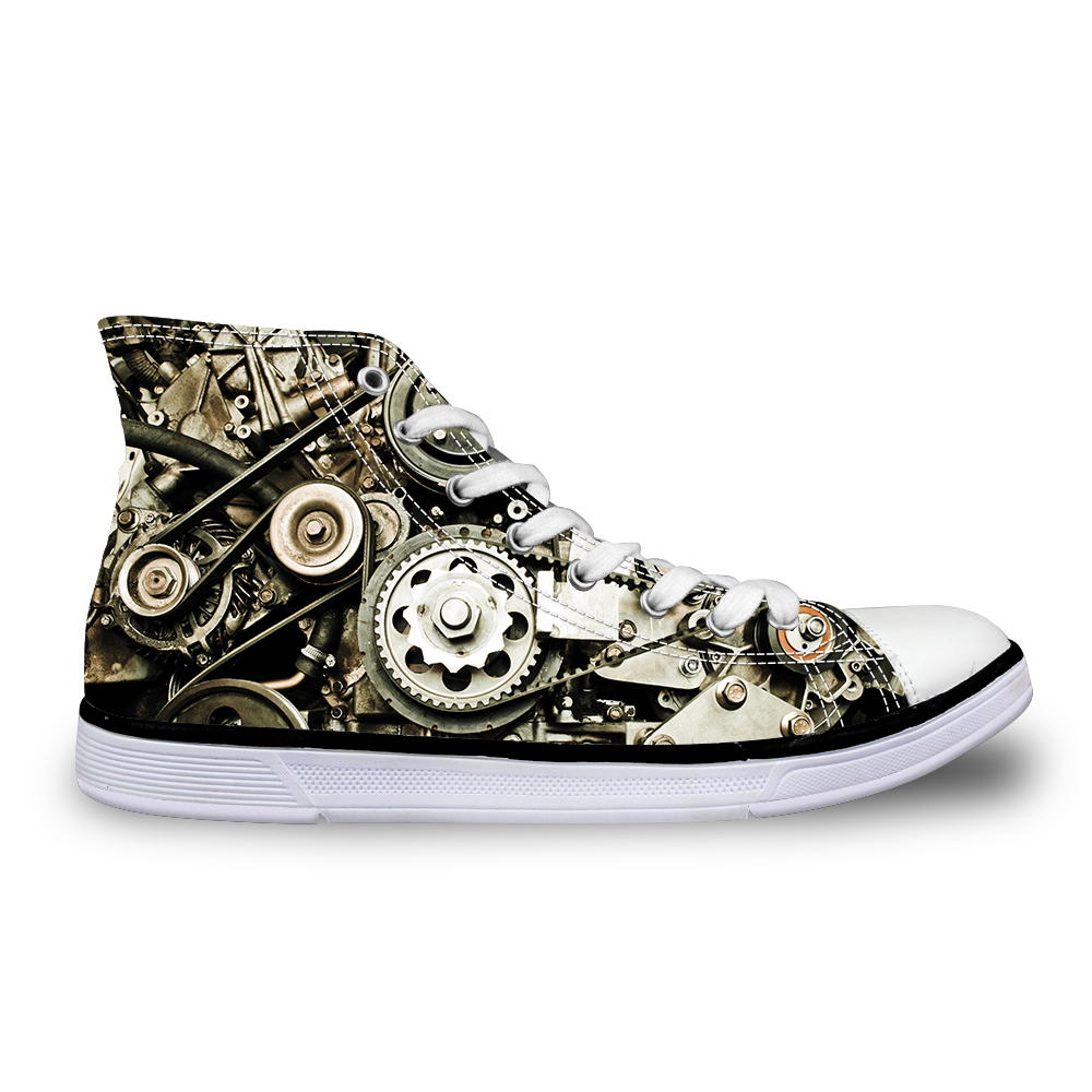 Noisydesigns Hoge top canvas Heren sneakers vintage gevulkaniseerd - Herenschoenen - Foto 5